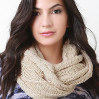 Diamond Thick Knit Infinity Scarf