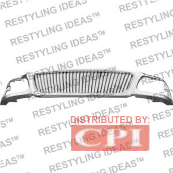 Ford 1999-2003 Ford F150 Chrome Vertical Bar Abs Grille Performance