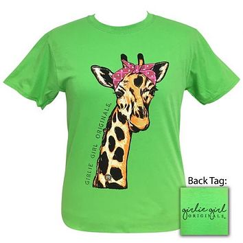 Girlie Girl Originals Preppy Bandana Giraffe T-Shirt