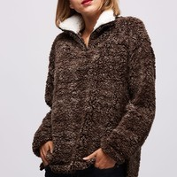 Sherpa Pullover - Brown