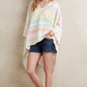 Mara Hoffman Hooded Surf Stripe Poncho in White Size: One Size Activewear