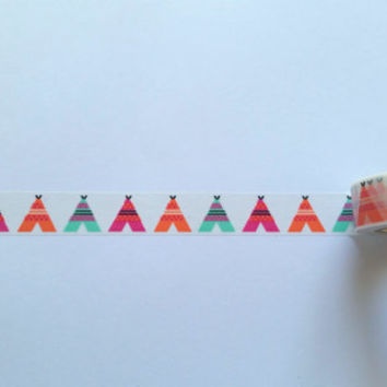 Teepee Washi Tape // Sample // Item #WT013