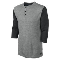 The Nike Dri-FIT Wool 3/4-Sleeve Henley Men's Shirt.