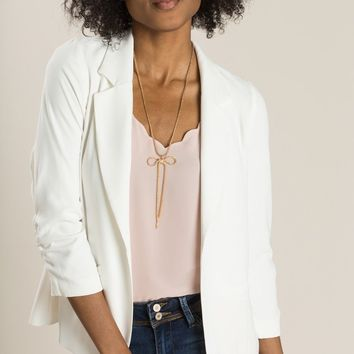 Nellie Ivory Shirred Blazer