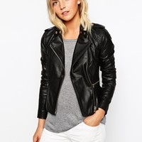 New Look Real Leather Jacket at asos.com