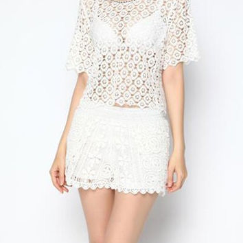 Chic Crochet Cut Out Cover-Up
