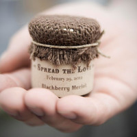 Custom Wedding Favor Rustic Jam Favors with by SweetCarolineJams