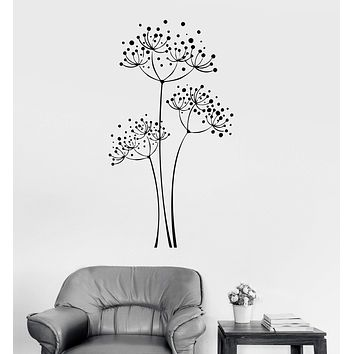 Vinyl Wall Decal Dandelion Flowers House Floral Art Room Decoration Stickers Unique Gift (ig2981)