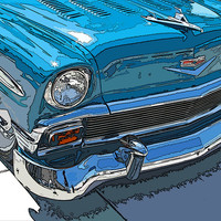 1956 Chevy Bel Air Nose Study