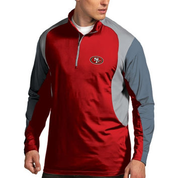 San Francisco 49ers Antigua Beta 1/4 Zip Pullover Jacket - Scarlet