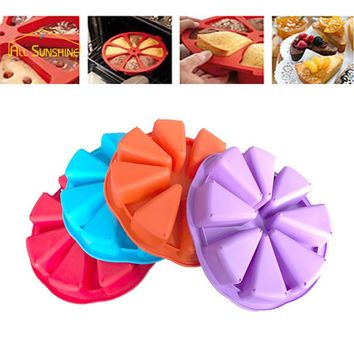 3D Silicone Cake Mold 8 Points Scone Cake Pan Baking Mold Jelly Cupcake Mold Kitchen Bakeware Tool