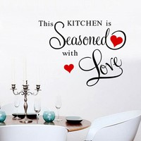 """""""This Kitchen Is Seasoned With Love"""" Wall Art"""