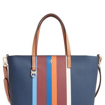 Tory Burch 'Kerrington' Stripe Faux Leather Shopper | Nordstrom