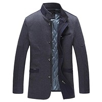 Thick Stand Collar Men Winter Jackets And Coats