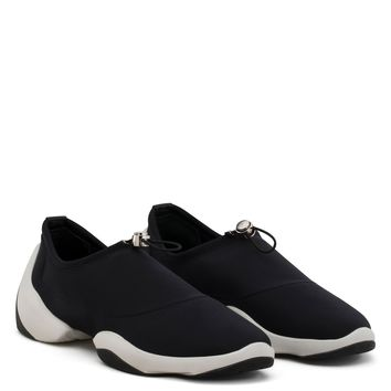 Giuseppe Zanotti Gz Light Jump Lt1 Black Neoprene Slip-on Sneaker