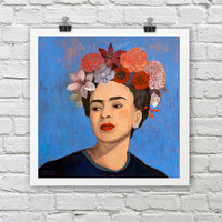 Frida Kahlo Print / BURN IT BLUE / A4 / A3 Signed Inkjet Fine Art Print