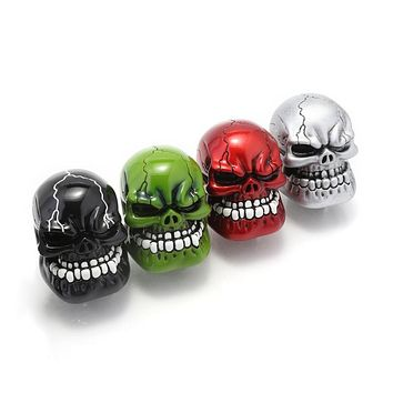 Universal Manual Gear Shift Knob Wicked Carved Skull