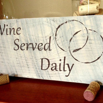 Wine Lovers Rustic Wine Sign by GreenButtonCrafts on Etsy