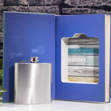 Vintage Hollow Book Safe and Flask - 20,000 Leagues Under the Sea
