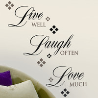 Room Mates Live Laugh Love Wall Decal