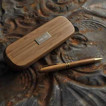 Personalized Pens - Bamboo Set - Executive Gifts