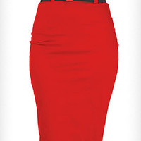 Cherry Bomb High Waist Pencil Skirt | PLASTICLAND
