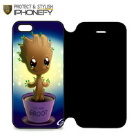 Guardian Of The Galaxy Baby Groot Dancing 02 iPhone 5 Flip Case|iPhonefy