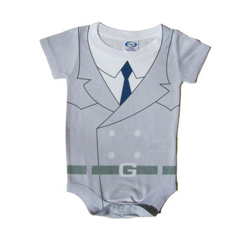 Baby Onesuit Parody inspired by Inspector Gadget - Infant, Toddler, Newborn, Nerdy Baby Clothes, Retro Kids, 80s Cartoon, Romper, Geek, Toon