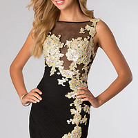 Short Black and Gold Dress from JVN by Jovani