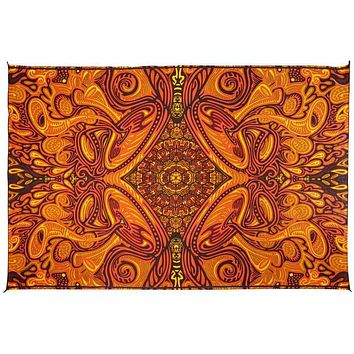 Honey Hive Psych Art Tapestry Wall Hang Cotton Tablecloth Rectangle 60x90 inches