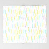 Hello Spring Pastel Pattern Throw Blanket by Allyson Johnson | Society6