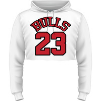 Bulls 23 Cropped Pullover Hoodie O/S