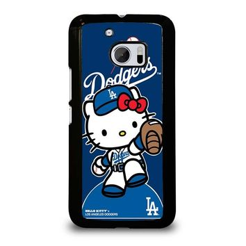HELLO KITTY LA DODGERS  HTC One M10 Case Cover