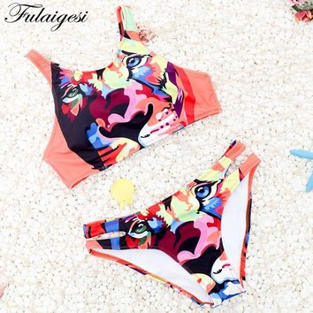 Fulaigesi Bikini low waist bikini set 2019 new women animal print sport bathing suit swimsuit swimming sexy swimwear tankini