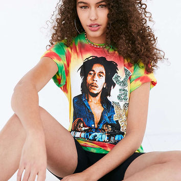 Bob Marley And The Wailers Tie-Dye Tee - Urban Outfitters