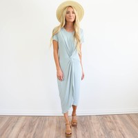 Belle Knot Dress in Light Blue
