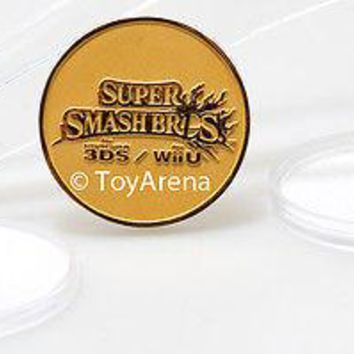 Nintendo Super Smash Bros Exclusive Limited Edition Wii 3DS Gold Rare Coin