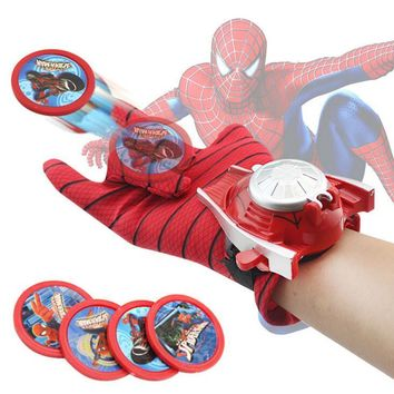 Spider man Launcher Toys For Kids Boys Captain America Iron man Hulk Batman Glove Launcher Christmas Gift Cosplay Toys Spiderman