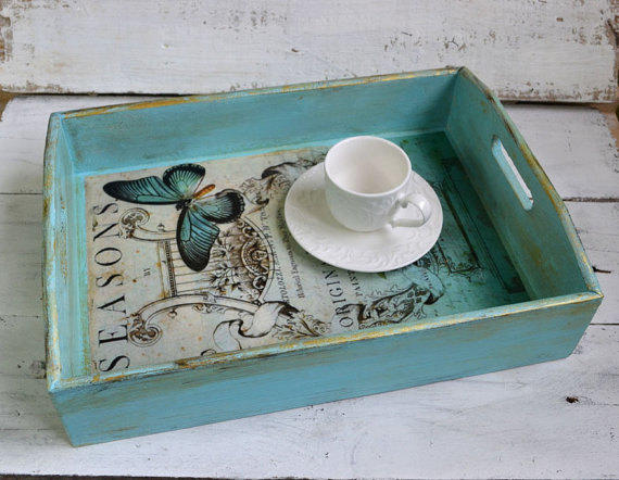 Serving Tray Shabby Chic Serving Tray From Innahandmade