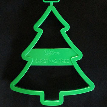 Wilton Giant Christmas Tree Cookie Cutter 1992