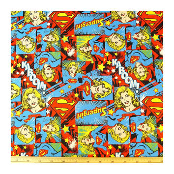 Supergirl comic book fabric steering wheel cover geek car retro super girl hero nerd justice league cotton