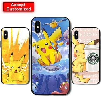 Anime Cover Case for Samsung Galaxy Note 8 9 S6 S7 S8 S9 Edge Plus iPhone 5 5S SE 6 6S 7 8 Plus X XS Max XR s Child GiftKawaii Pokemon go  AT_89_9