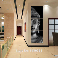 3 Panel Modern Buddha Painting on Canvas For Living Room Decor