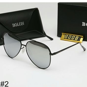 BOLON new colorful film men and women with the same paragraph sunglasses F-A-SDYJ #2