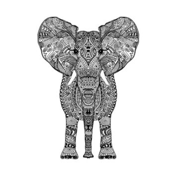 *** AZTEC ELEPHANT  *** Art Print by Monika Strigel in different sizes by Society 6 !!!