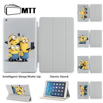 MTT Minions Taking Photo Unique Print For Ipad Air 2 Case Magnetic Leather Smart Case Cover Apple Ipad Air 2 For Ipad 6 Case