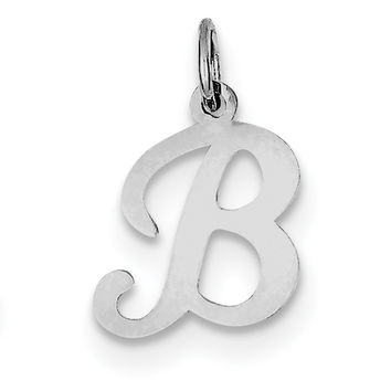 Sterling Silver Stamped Initial B Charm QC4163B