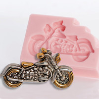 Silicone Mold Motorcycle Fondant Chocolate Candy by MoldMeShapeMe