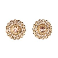 Rhinestone Burst Stud Earrings by Charlotte Russe