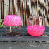 Stemless Glitter Wine Glass (set of two)